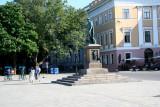 Statue in the square of the founder of Odessa, Duke de Richelieu.