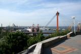 View of the suspension bridge at Odessa's harbor.