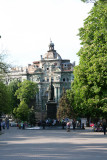 Monument to Vorontsov (1782-1856), Odessa's Governor General with a great building behind it!