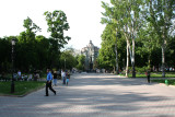 A distant view of Vorontsov's monument. Pushkin had an affair with Countess Vorontsov, his wife.
