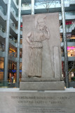 Carving of Athena in the modern Athena Gallery shopping mall (where I bought caviar).