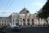 View of the Odessa Railway Station.