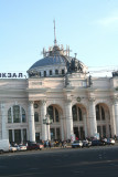 Close-up of the Odessa Railway Station.