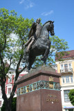 Monument to Danylo the founder of Kiev and the King of Halytsko-Volynske Principality.