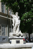 Statue of Neptune in front of the Town Hall.
