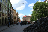 Lviv square with more construction and renovation going on.