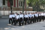 Ukrainian cadets marching.