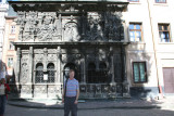 Me standing in front of the Boims Chapel (built for Lviv merchant George Boim (1609-1615)).