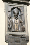 Plaque of John Paul II in front of the Polish Church (Lviv was part of Poland before WW II).