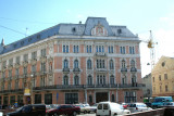 Hotel George was once the best hotel in Lviv. That is no longer the case; only the façade is reminiscent of its former splendor.