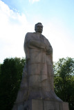 Ivan Franko (1856-1916) monument at Lviv University. He was a Ukrainian writer and nationalist.