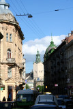 More typical Lviv architecture that I snapped near the end of my tour.