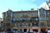 Prominent building on Prospekt Svobody near the Hotel George.