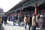 View of the long corridor where Chinese people and tourists were mulling around and relaxing.