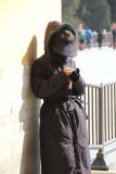 As I exited, I saw this mysterious-looking, hooded Chinese girl checking her cell phone.