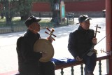 Two more musicians were playing in hopes of getting tips from the tourists.