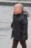 An unhappy Chinese boy at the Summer Palace.