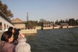 Some of the many tourist at the Summer Palace snapping pictures.