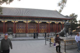 The Hall of Benevolence and Longevity with a bronze Qilin statue in front.