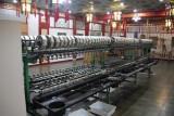 Machine in the silk factory where the silk is spun into thread.
