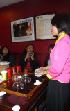 This young lady described  types of Chinese teas and gave us instructions on tea making. We got to sample many types of tea.
