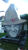 A billboard that resembled Dick Cheney with a hat (thank God, there wasn't a shotgun)!