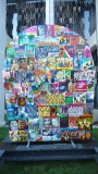 A colorful collage that was at the Just for Laughs festival.