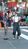 An over the top clown who was at the Just for Laughs festival.