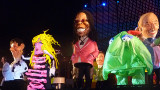 A mannequin of Whoopi Goldberg was in the middle.
