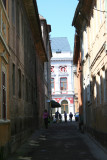 Nice architecture at the end of a narrow Brasov street!