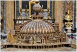 Eglise Saint Louis des Français- Maquette  en bois d'églises du monde entier