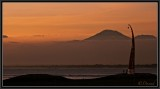 Evening dusk on the volcanoes.