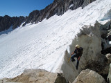 At the top of the glacier