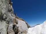 Last ledge to the glacier