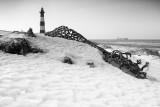 Breskens lighthouse in winter