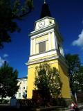 Tampere. Keskustori. The clock tower.