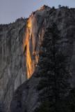 Firey light at Horsetail Falls