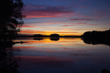 Sunset at the lake - mirror effect