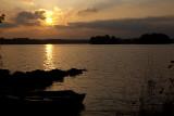 The beginning of a sunset