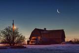 Moon Over Barn 20110301