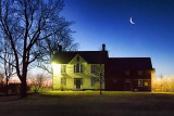 Moon Over Heritage House 20110330