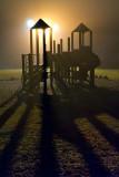 Foggy Playground Shadows 20110416