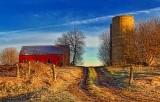 Farm Lane At Sunrise 20110419