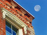 Moon Over Ornamental Brickwork 20111212