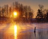 Freezing Rideau Canal Sunrise 20111224