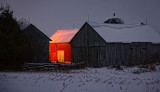 Red Barn At First Light 20120103