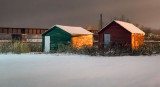 Boathouses On A Winter Night 20120106