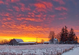 Farm Snowscape At Sunrise 20120128