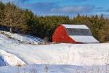 Red Barn In Winter 20120205