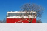 Barn Beyond Snow 21920